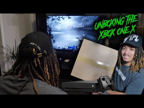 UNBOXING THE BRAND NEW XBOX ONE X !!! FIRST THOUGHT AND GAMEPLAY REVIEW !!!