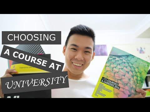 Choosing a course at university