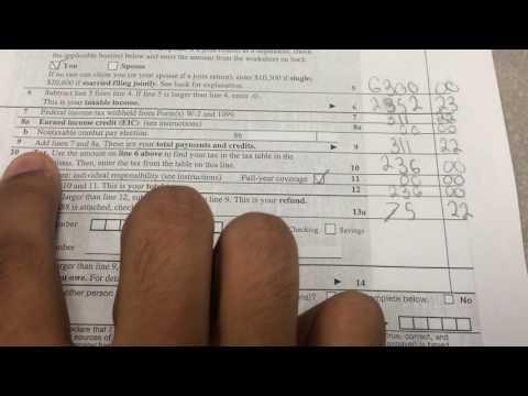 Tutorial on 1040EZ tax reform
