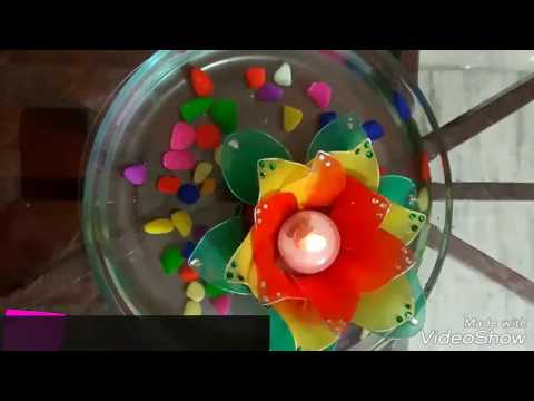 diy | tea light holder | decoration ideas| how to make floating flower at home| koodkala