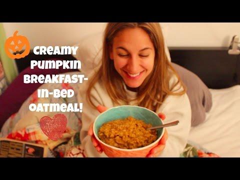Healthy Pumpkin Recipe - My Boyfriend's Secret Creamy Pumpkin Oatmeal (Dairy-Free!)