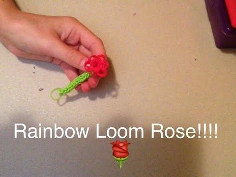 How to make a rainbow loom rose!