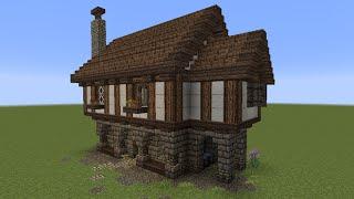 Minecraft Lets Build Tutorial MITTELALTERLICHES HAUS BAUEN - Minecraft hauser leicht zum nachbauen
