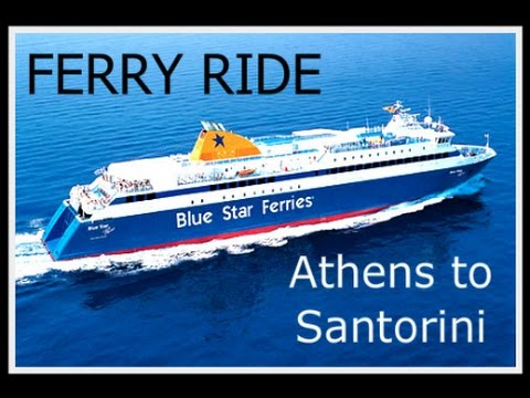 Ferry from Athens to Santorini: Blue Star Ferry ride