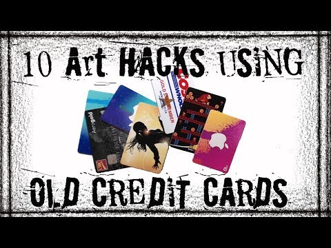 10 Art Hacks using Old Credit Cards- Tips for Artists and Crafters