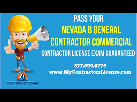 Nevada B General Contractor License 🔨 Pass Your Exam Guaranteed!
