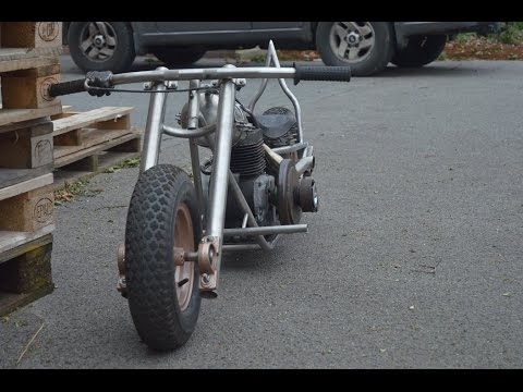 homemade mini bike chopper bobber part 5 sissy bar building