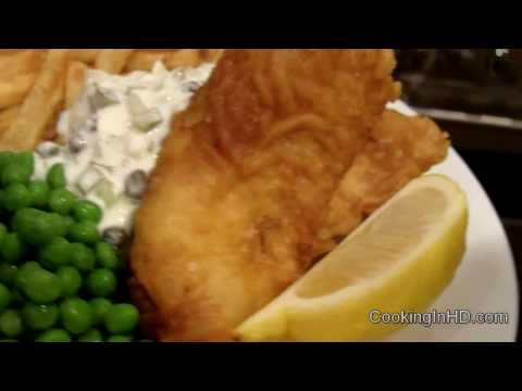 Crispy Beer Battered Fish and Chips & Tartar Sauce