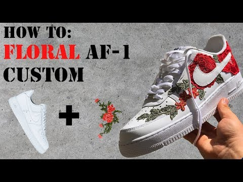 How To: Make Floral Custom Nikes-    FREcustoms