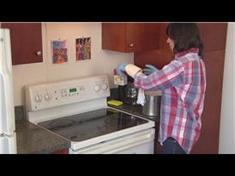 Household Cleaning Tips : How to Clean Hard Grease Off the Stove Top Cover