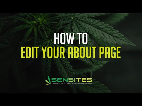 How to Edit Your Dispensary Website Theme About Page - Sensites