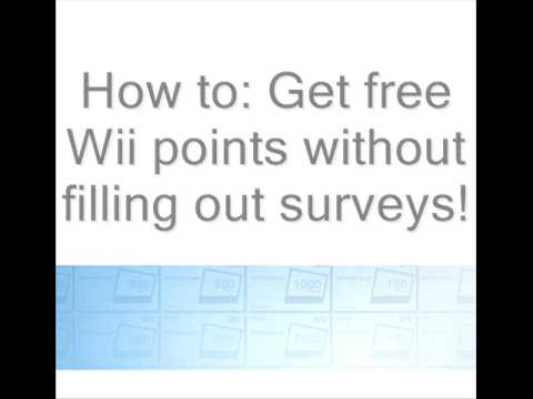 Free Wii Points without filling out surveys!