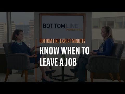Know When to Leave a Job