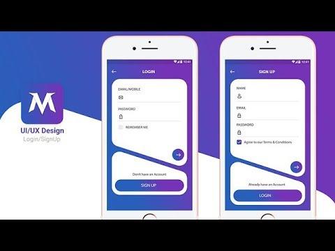 Login Screen using Material Design Tutorial Android Studio