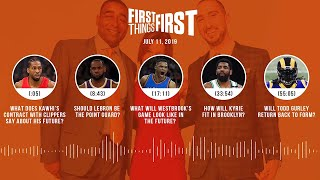 First Things First audio podcast (7.11.19)Cris Carter, Nick Wright, Jenna Wolfe | FIRST THINGS FIRST