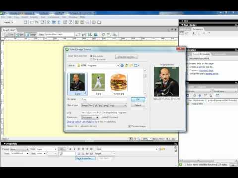 Setting background for a page Dreamweaver 8