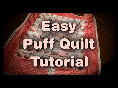 Easy Puff Quilt Tutorial