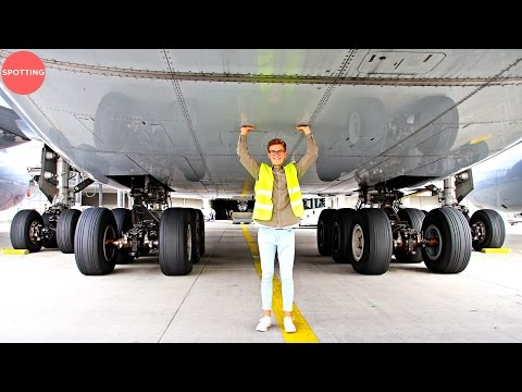 Tickling The Lufthansa Airbus A380   The World's Biggest Passenger Airplane!