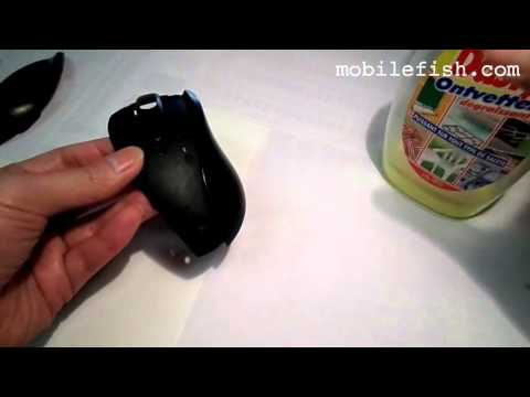 How to remove the sticky rubber coating from a mouse using Dasty Degreaser Classic