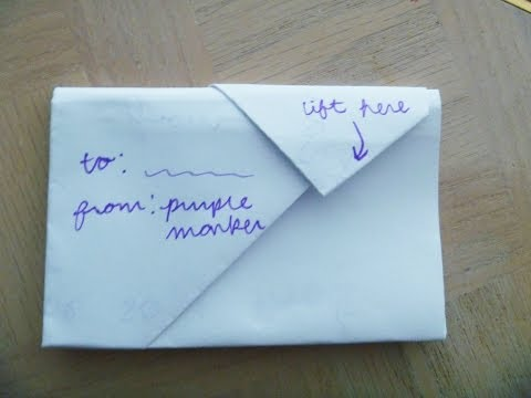 --HOW to FOLD a NOTE into a SECRETIVE ENVELOPE-- Cute, Creative, but Simple- step by step