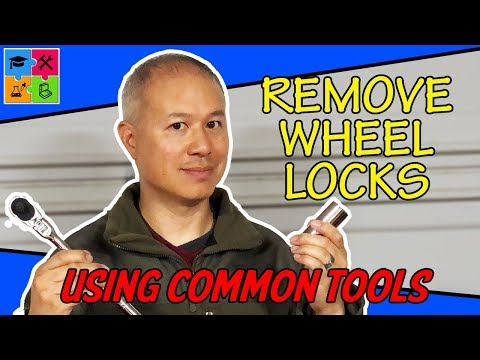 How to remove wheel locks without a key using common tools
