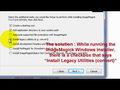 'convert.exe' missing from 7.0.3-5-Q16 - ImageMagick