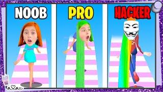 Schaffe ich NOOB vs PRO vs HACKER in der HAIR CHALLENGE APP!? 💜 Alles Ava Gaming