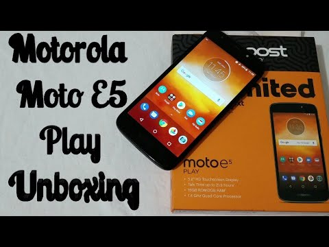 Motorola Moto E5 Play Unboxing & First Look