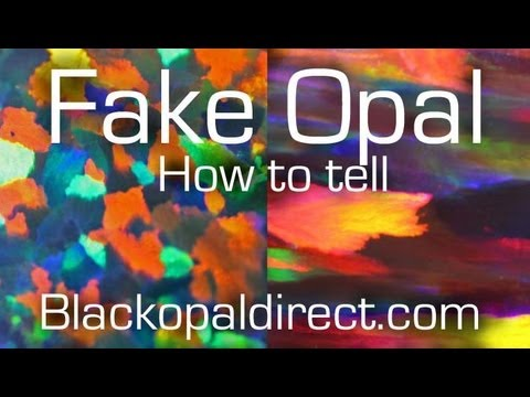 How to tell a fake opal or Synthetic opal from the real thing by www.blackopaldirect.com