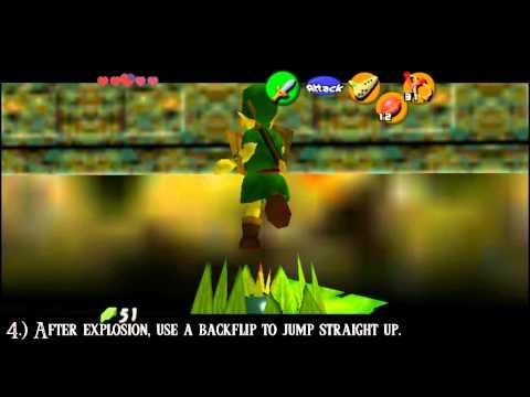 Ocarina of Time (HD) Glitch - Bomb Hover