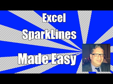 How to Create a Sparkline Chart in Excel 2010, 2013, 2016 tutorial