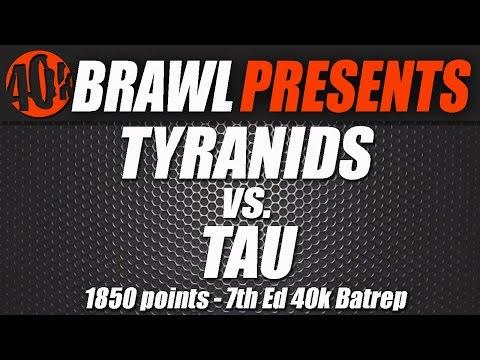 40k Brawl! Farsight Enclaves Vs Tyranids 1850 Caledonian Practice Match Video Batrep