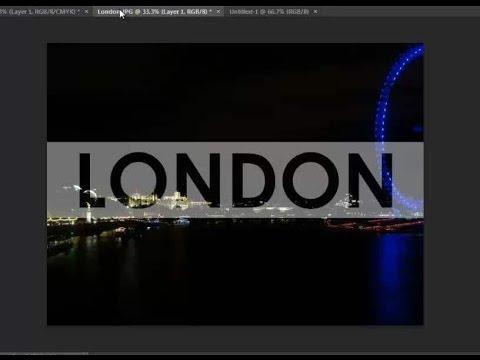 Transparent Text over Image (Photoshop CS6)