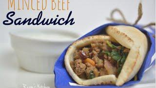 ساندويتش لحمة مفرومة بالسبانخ || Minced Beef & Spinach Sandwich