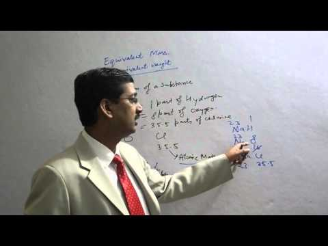Equivalent mass /Equivalent Weight in Stochiometry in Chemistry for IIT/Medical