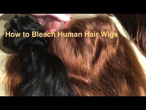 How to Bleach Human Hair Wigs