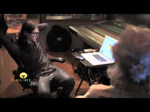 Skrillex in the studio creating music! (R.I.P Ray Manzarek)
