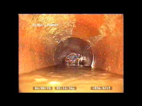 How to cut and remove tree roots in clay sewer pipe