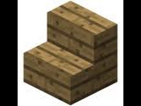 How to make Wooden and Cobblestone Stairs in Minecraft - Commentary
