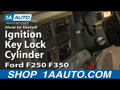 How to Install Replace Ignition Key Lock Cylinder Ford F250 F350 99-04 1AAuto.com