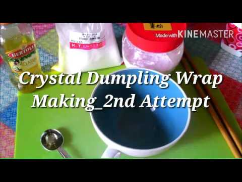 【ASMR 】水晶餃子麵團/Crystal Dumplings Dough