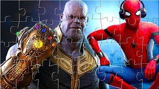 Download Thanos Marvel Avenger Infinity War Spiderman Puzzle Games for kids - Rompecabezas de Infinity War Video