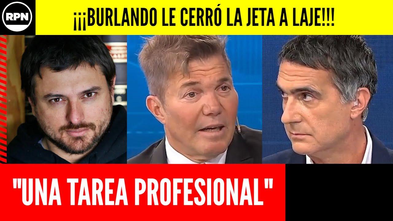 ¡¡Fernando Burlando le pegó una tremenda TAPADA DE BOCA a Laje cuando bancó a Grabois!!