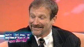 Robin Williams Interview Mrs Doubtfire & Aladdin Voices To Family Life   Blast From The Past