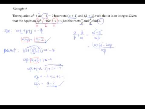 Sum and Product of Roots - Example 4
