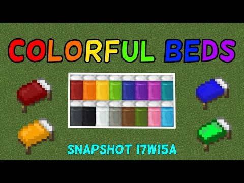 Colorful Beds In Minecraft 1.12! (Snapshot 17w15a)