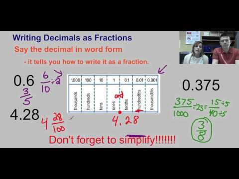 Decimals and Fractions Lesson   video