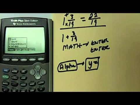 How To Change A Mixed Number Into An Improper Fraction In The TI-Calculator