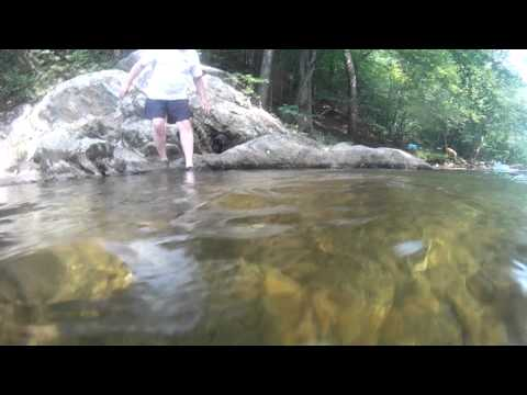 Steve gets Phoebe to jump off of the Rock into the Might Piney River