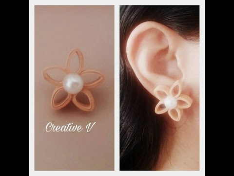 How to Make Quilling Stud Earrings / Design 11 / Tutorial / #72